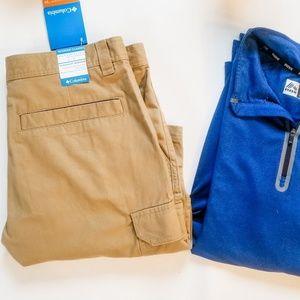 NWT Columbia Omni-Shade Mens Tan Shorts
